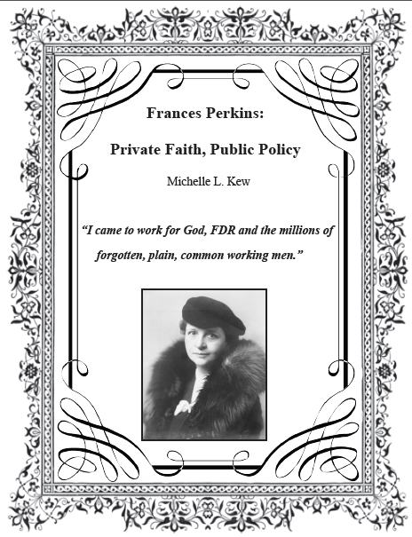 Frances Perkins - Private Faith, Public Policy by Michelle Kew COVER