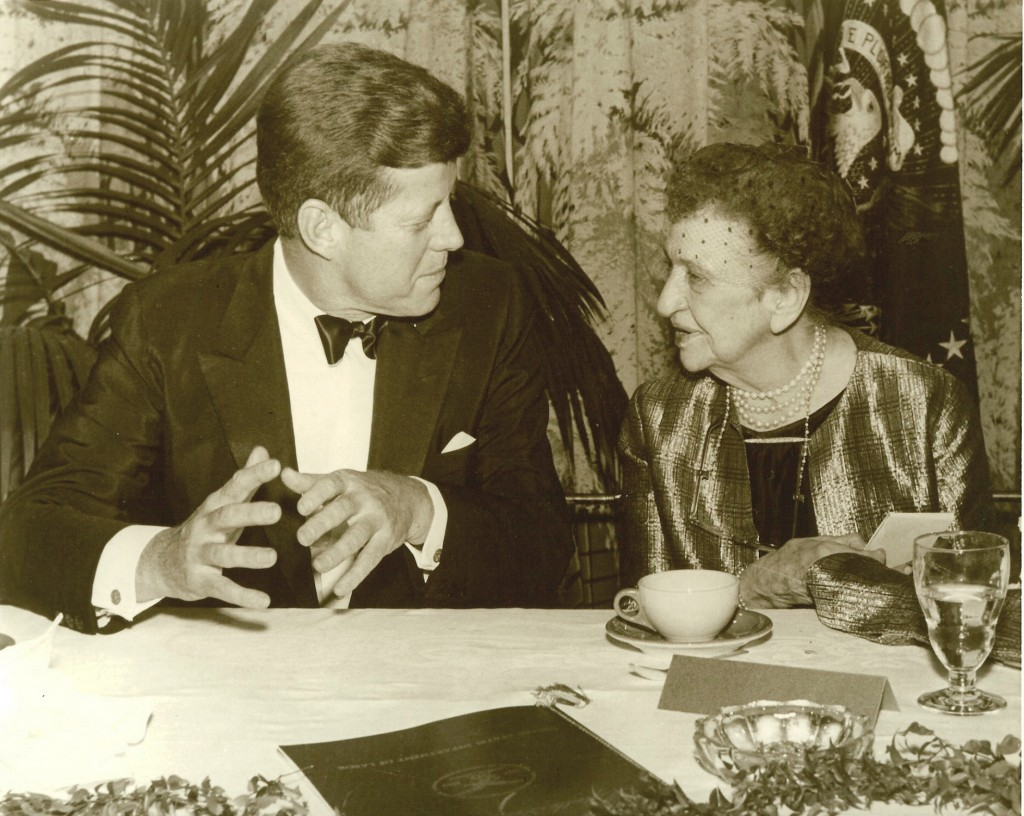Frances Perkins with JFK