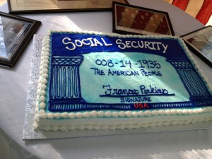 Social Security Cake