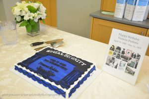 Social Security birthday cake